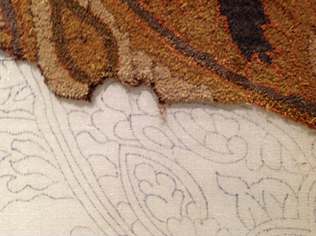 Detail of Tufted Rug Outline