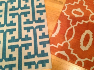 Natural flat-woven rug design from Genevieve Gorder