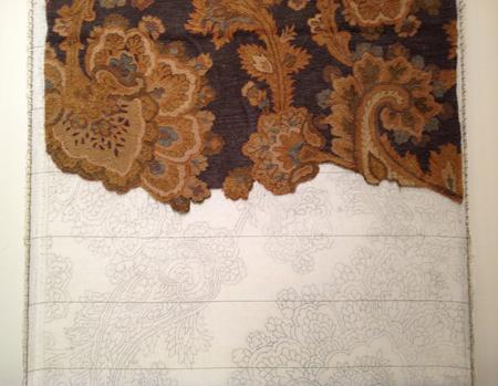 Half complete tufted rug