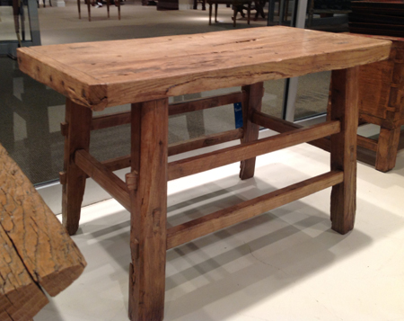 Reclaimed Poplar Wood table from the Shandong Province