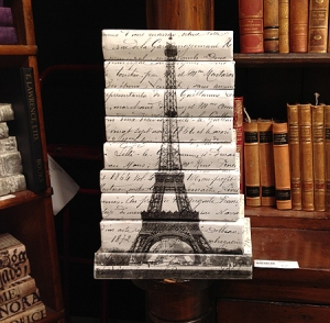 Eiffel Tower Vintage Decor Books