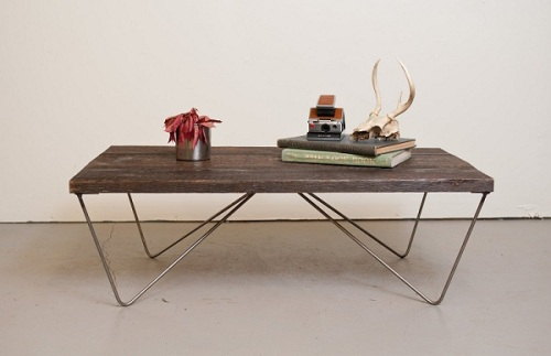 recailmed wood coffee table