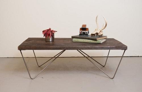 recailmed wood coffee table
