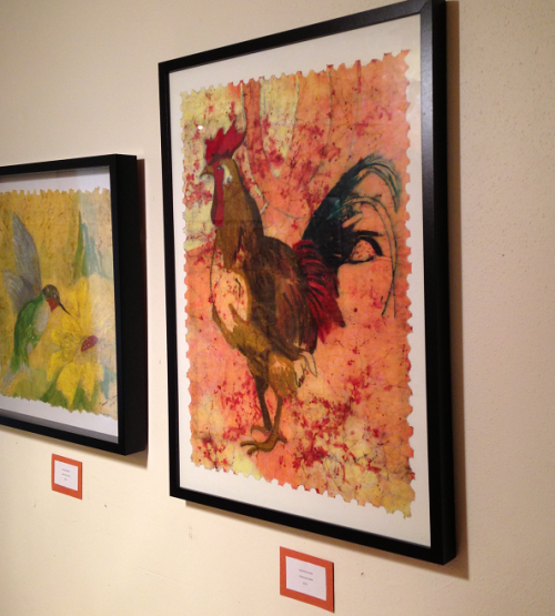 Artist Marcia McKenzie is popular for her roosters, but a talent at other motifs as well