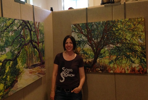 Tree paintings by talented painter Denise Fulton